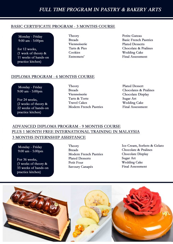 Full Time: Diploma in Pastry & Bakery Arts (9 Months) - Academy of ...
